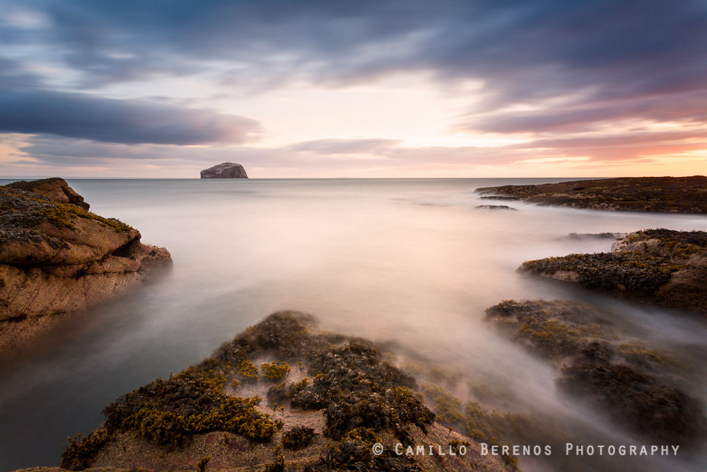 Beautiful golden light on a beach near North Berwick. No matter how often I visit this beach, I never tire of it.