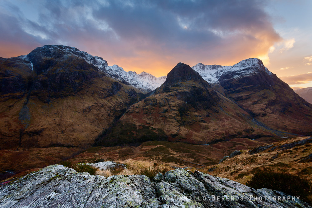 The Three sisters are shoulders of the majestic mountain of Bidean nam Bian in Glen Coe.