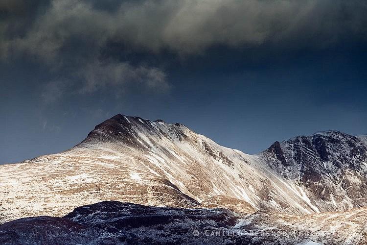 Dark clouds above Beinn Eighe, Torridon