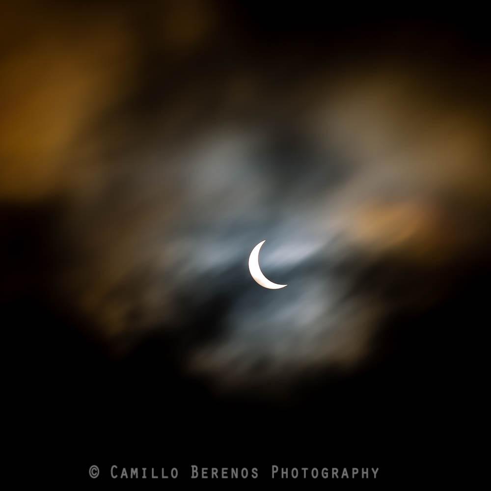 Partial solar eclipse from Edinburgh, Scotland