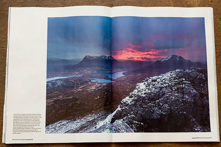 Dawn on Stac Pollaidh in Outdoor Photography