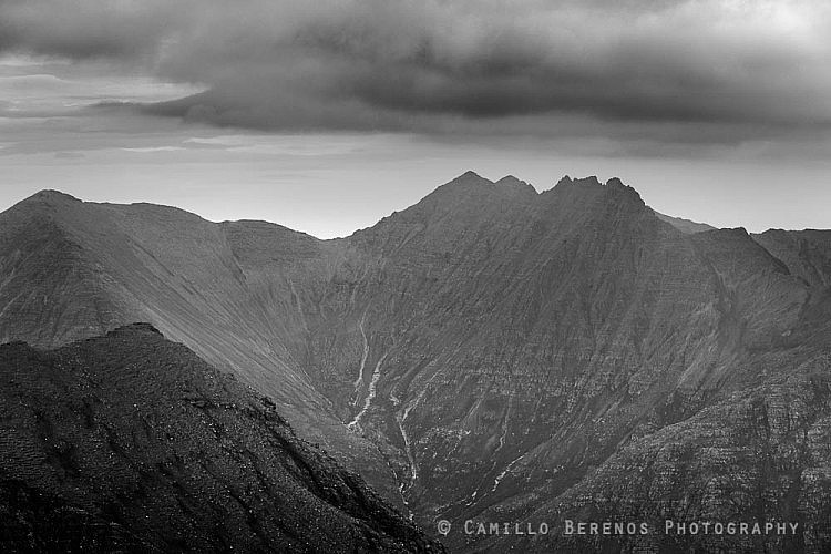 The steep and appearingly unconquerable slopes of An Teallach