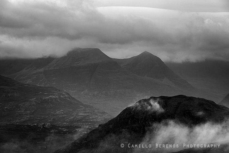 Looking back over Beinn Alligin, Torridon