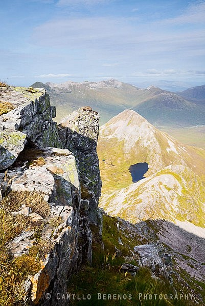 Binnein Beag from the northern tip of the summit of Binnein Mor