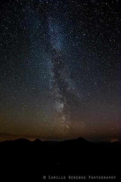 Milky way above Beinn Alligin, Torridon