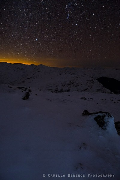 An Arnisdale winter landscape at night