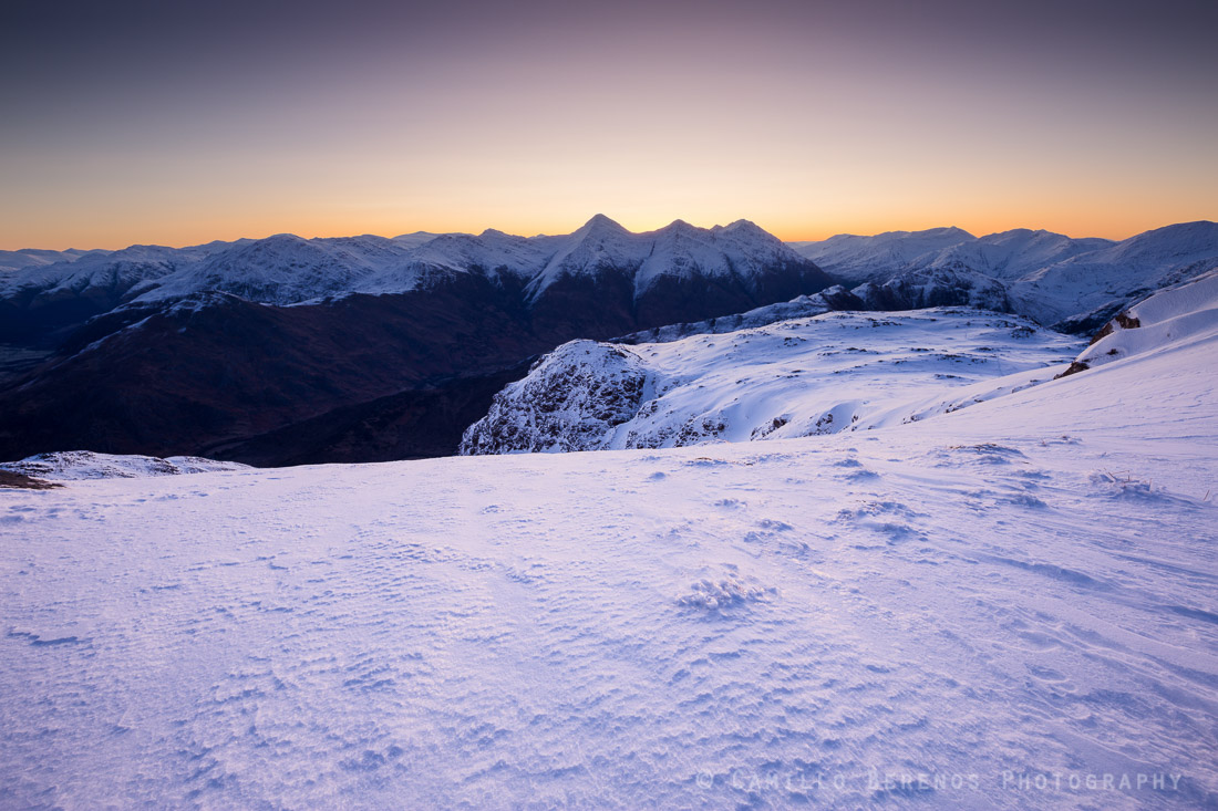 The Kintail ridge at dawn