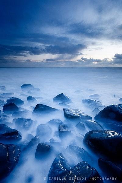 Death rocks at dawn at Embleton Bay