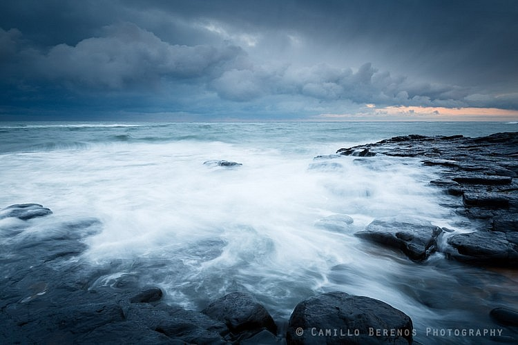 Storm clouds above the North Sea, near Craster