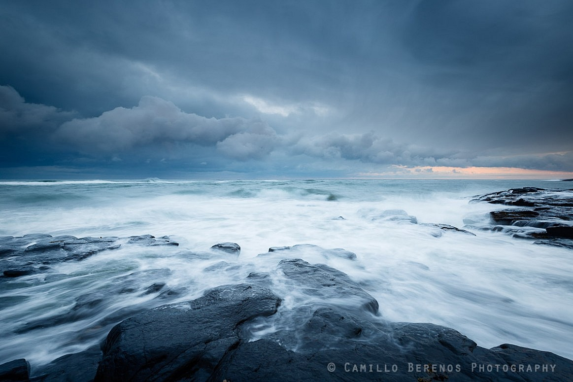 Storm clouds above the ferocious North Sea