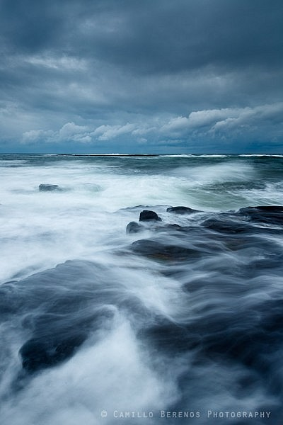 A stormy evening near Craster