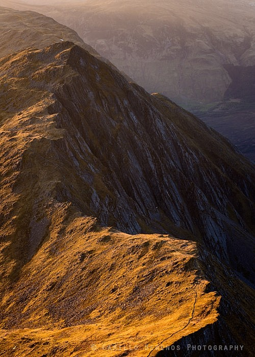 The meandering ridge of Sgurr nan Saighead (Five Sisters of Kintail)