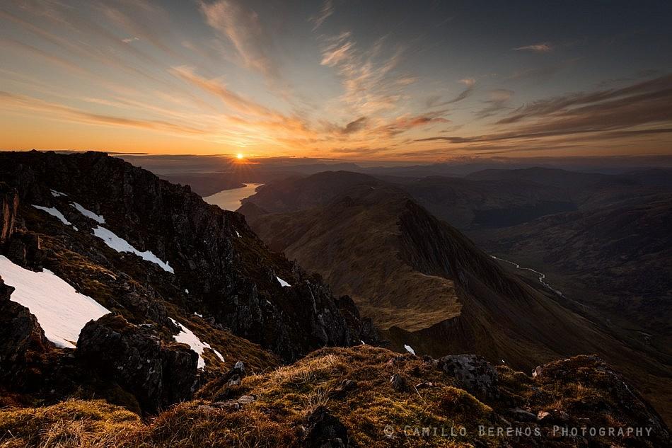 Sunset abobe Loch Duich and Sgurr nan Saighead (Kintail)