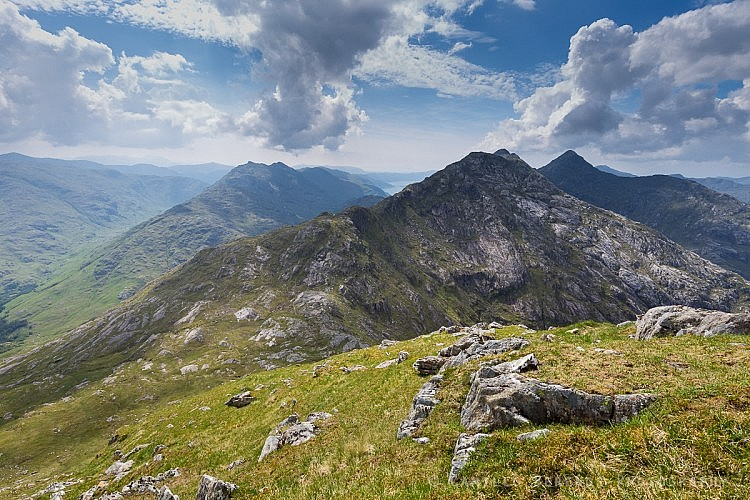 Garbh Chioch Mhor and Sgurr na Ciche on a hazy summer afternoon