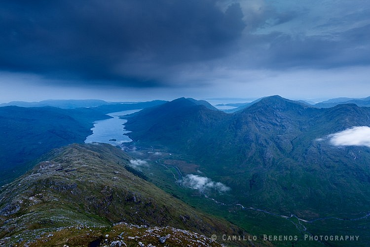 The wilderness of North Morar and Knoydart at dawn