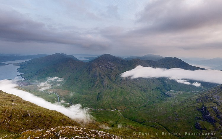 Overlooking the rugged mountains of the Knoydart peninsula at dawn