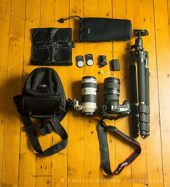 photography gear backpacking